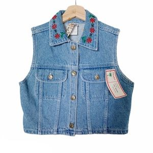 NWT Vintage Palmetto's Deadstock Embroidered Vest